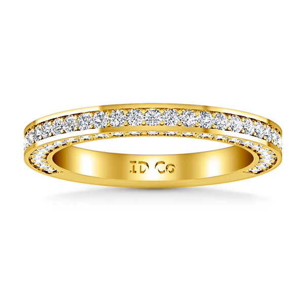 Diamond Wedding Band Elizabeth 1 Cts 14K Yellow Gold