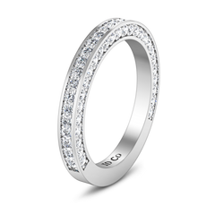 Diamond Wedding Band Elizabeth 1 Cts 14K White Gold