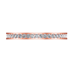 Diamond Wedding Band Elizabeth 1 Ct 14K Rose Gold