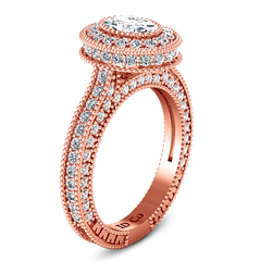 Halo Oval Engagement Ring Hannah 14K Rose Gold
