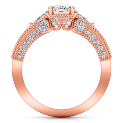 Pave Engagement Ring Heritage 14K Rose Gold