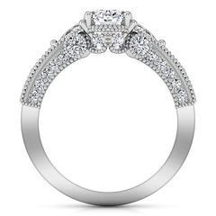 Pave Engagement Ring Heritage 14K White Gold