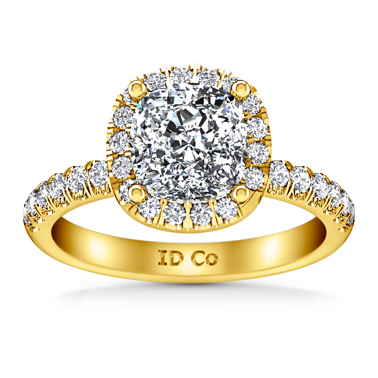ct in tw rings diamond white pave shank prong cut ring engagement platinum jewellery classic cushion with