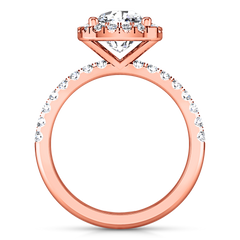 Halo Cushion Cut Engagement Ring Jessica 14K Rose Gold
