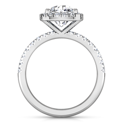 Halo Cushion Cut Engagement Ring Jessica 14K White Gold