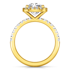 Halo Cushion Cut Engagement Ring Jessica 14K Yellow Gold