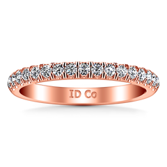 Diamond Wedding Band Jessica 0.4 Cts 14K Rose Gold