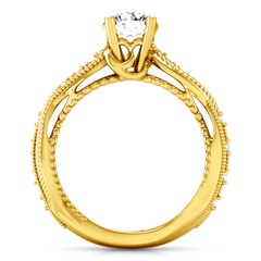 Pave Engagement Ring Maeve 14K Yellow Gold