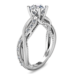 Pave Engagement Ring Maeve 14K White Gold