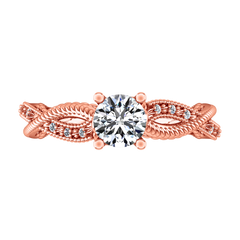Pave Engagement Ring Maeve 14K Rose Gold