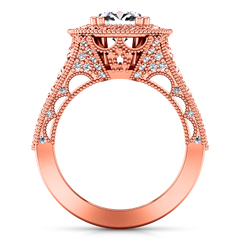 Halo Engagement Ring Angeline 14K Rose Gold
