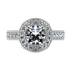 Halo Engagement Ring Angeline 14K White Gold