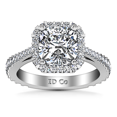 Halo Cushion Cutengagement Ring Adalyn 14K White Gold