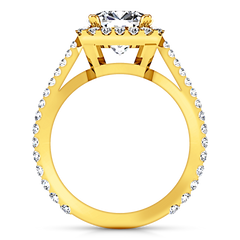 Halo Cushion Cut Engagement Ring Adalyn 14K Yellow Gold