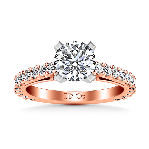 Pave Engagement Ring Eden 14K Rose Gold