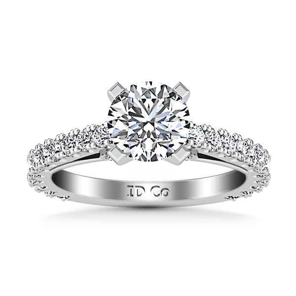 Pave Engagement Ring Eden 14K White Gold