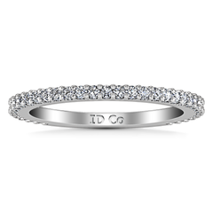 Diamond Wedding Band Camille 0.6 Cts 14K White Gold