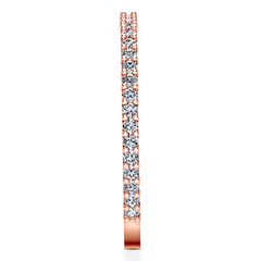 Diamond Wedding Band Camille 0.6 Cts 14K Rose Gold