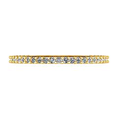 Diamond Wedding Band Camille 0.6 Cts 14K Yellow Gold