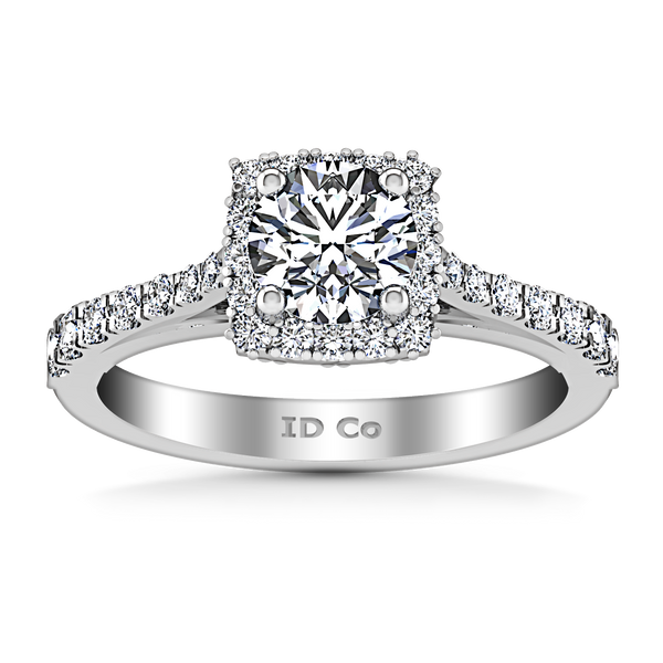 Halo Engagement Ring Mallory 14K White Gold