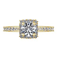 Halo Engagement Ring Mallory 14K Yellow Gold