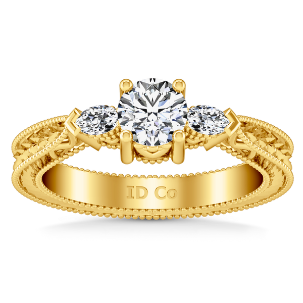 Three Stone Engagement Ring Haven 14K Yellow Gold