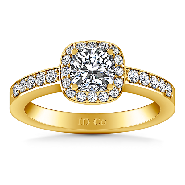Halo Engagement Ring Eve 14K Yellow Gold