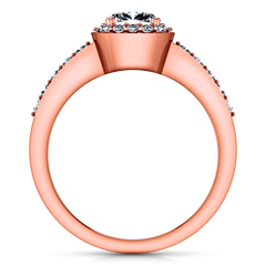 Halo Engagement Ring Eve 14K Rose Gold