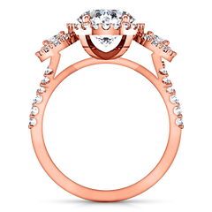 Halo Engagement Ring Summer 14K Rose Gold