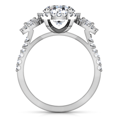 Halo Engagement Ring Summer 14K White Gold