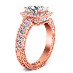Halo  Engagement Ring Danica 14K Rose Gold