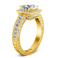 Halo  Engagement Ring Danica 14K Yellow Gold