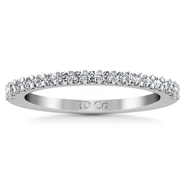 Diamond Wedding Band Claire 0.35 Cts 14K White Gold