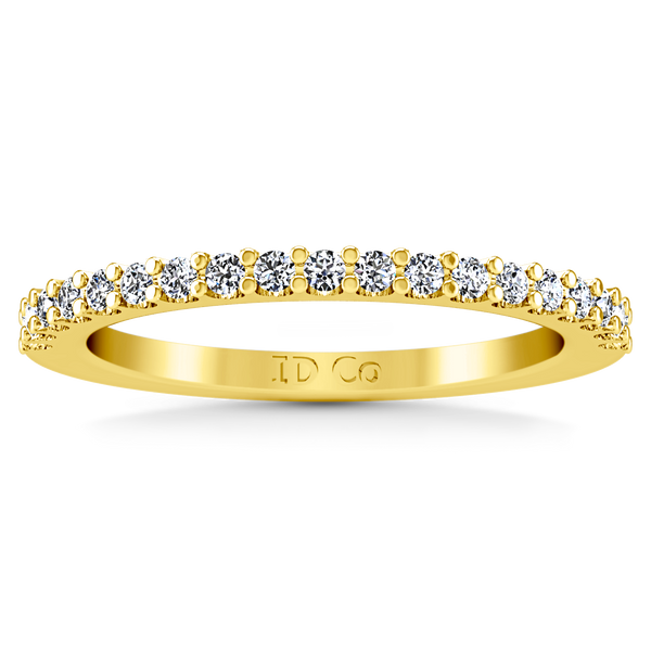 Diamond Wedding Band Claire 0.35 Cts 14K Yellow Gold
