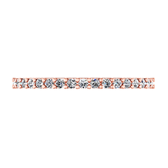 Diamond Wedding Band Claire 0.35 Cts 14K Rose Gold