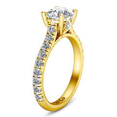 Pave Engagement Ring Anabelle 14K Yellow Gold