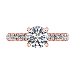 Pave Engagement Ring Anabelle 14K Rose Gold