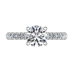 Pave Engagement Ring Anabelle 14K White Gold