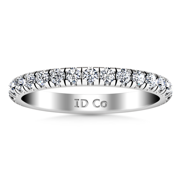Diamond Wedding Band Anabelle 0.45 Cts 14K White Gold