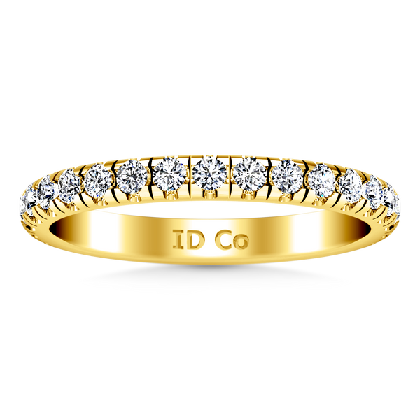 Diamond Wedding Band Anabelle 0.45 Cts 14K Yellow Gold