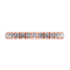 Diamond Wedding Band Anabelle 0.45 Cts 14K Rose Gold