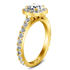 Halo Engagement Ring Irina 14K Yellow Gold