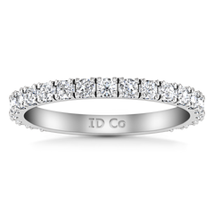Diamond Wedding Band Irina 0.35 Cts 14K White Gold