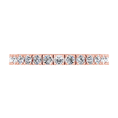 Diamond Wedding Band Irina 0.35 Cts 14K Rose Gold