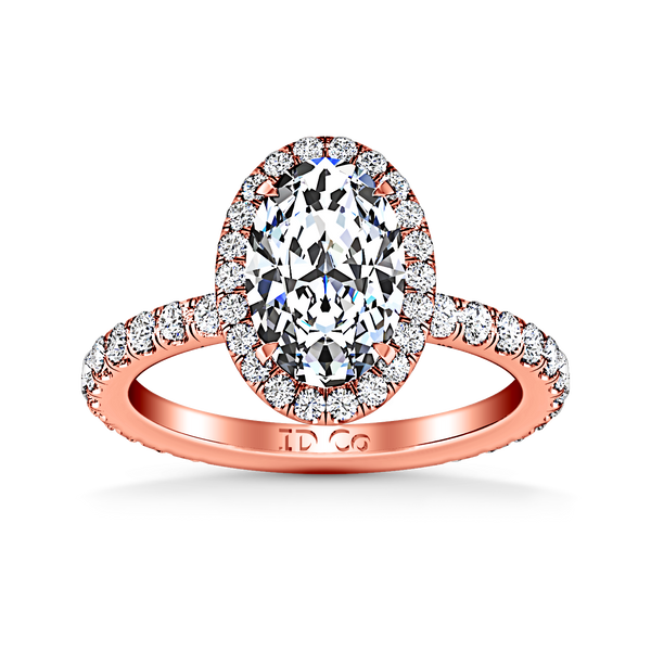 Halo  Engagement Ring Elsa 14K Rose Gold