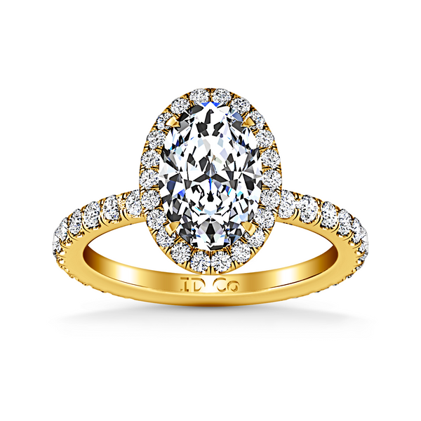 Halo  Engagement Ring Elsa 14K Yellow Gold