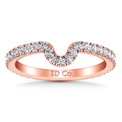 Diamond Wedding Band Elsa 0.58 Cts 14K Rose Gold