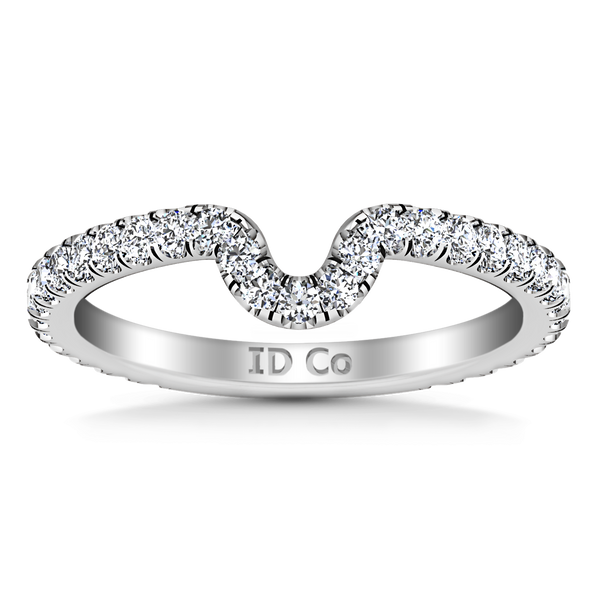 Diamond Wedding Band Elsa 0.58 Cts 14K White Gold