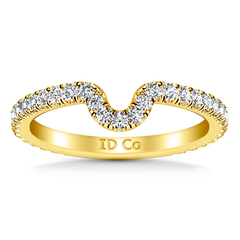 Diamond Wedding Band Elsa 0.58 Cts 14K Yellow Gold