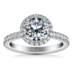 Halo  Engagement Ring Clayton 14K White Gold